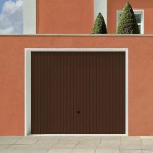 Image of Výklopná vrata Hörmann Berry s výběrem barvy : bílá, hnědá
